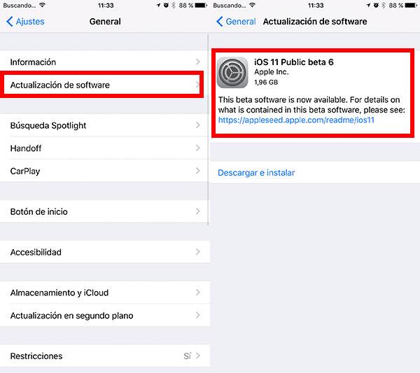 Cómo descargar la última beta de iOS 11 instalar beta