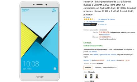 Consigue el Honor 6X con un descuento de 60 euros en Amazon