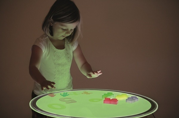 mesa de luz redonda