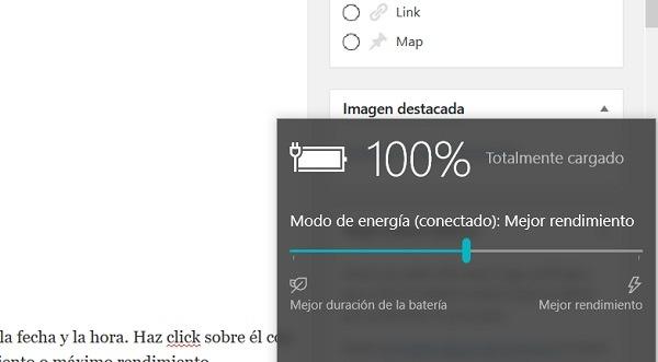 Cómo ahorrar batería del portátil con los ajustes de Windows 10