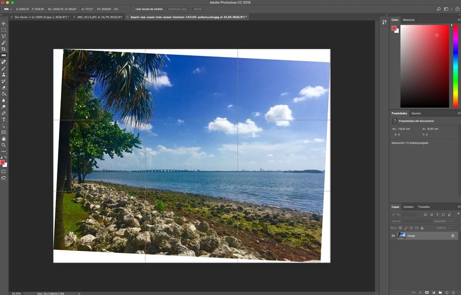 5 ajustes de Photoshop que te ayudarán a mejorar la imagen reencuadrar