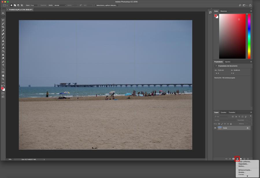 5 ajustes de Photoshop que te ayudarán a mejorar la imagen balance de blancos capa