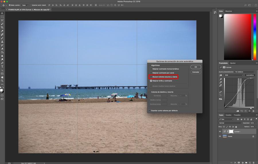 5 ajustes de Photoshop que te ayudarán a mejorar la imagen balance de blancos opciones capa