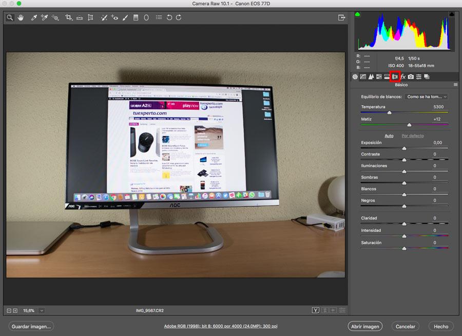 5 ajustes de Photoshop que te ayudarán a mejorar la imagen corrección lente camare raw