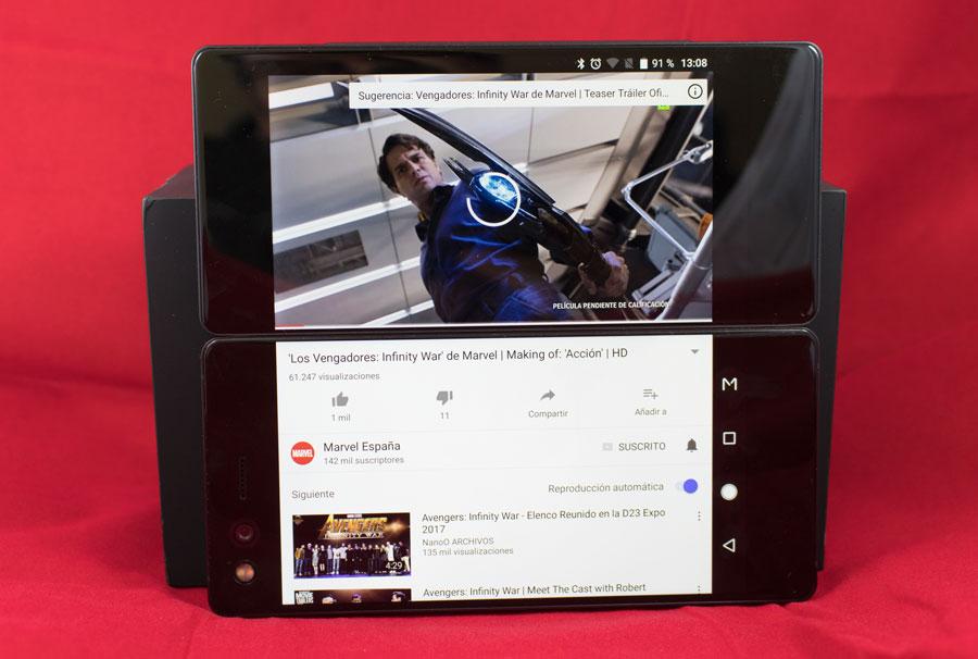 5 cosas curiosas que puedes hacer con la doble pantalla del ZTE Axon M vídeo comentar