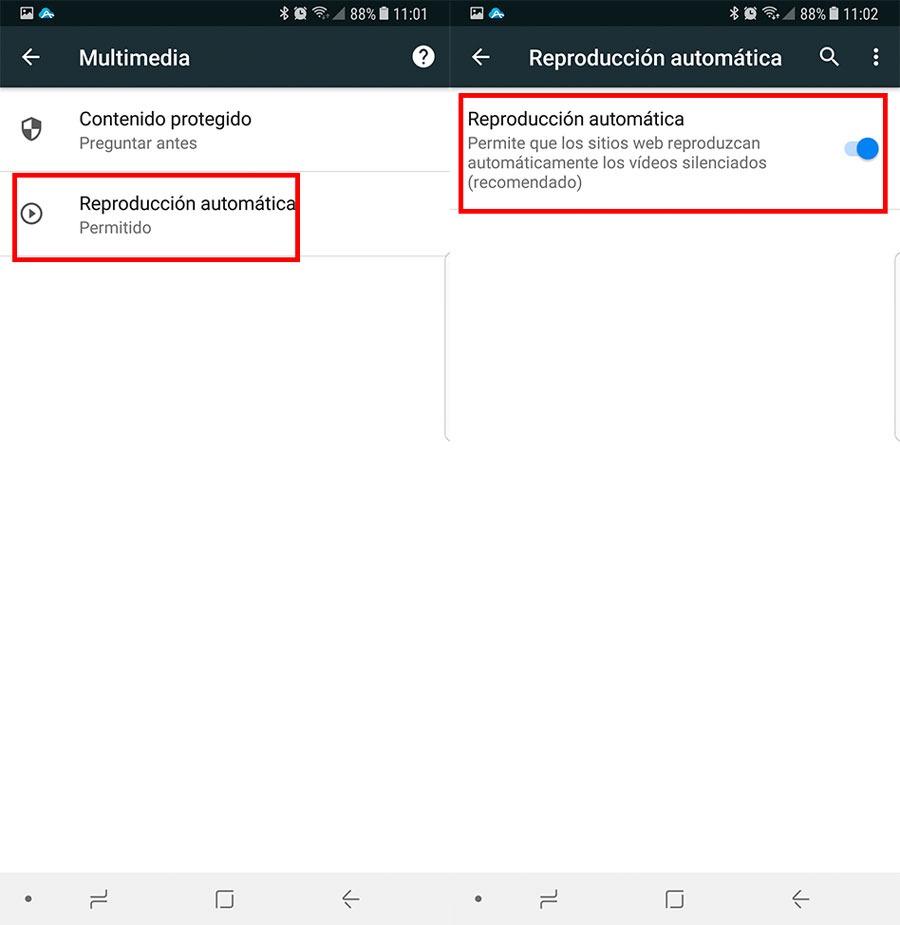 cómo deshabilitar la reproducción automática de vídeos en Google Chrome en Android 3