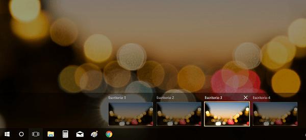 Mostrar Vista de tareas o Escritorios virtuales