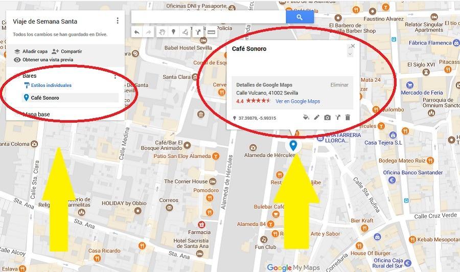 agregar sitios google maps