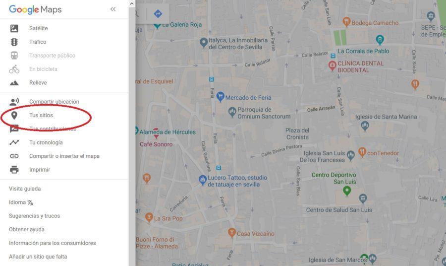como crear un mapa en google maps
