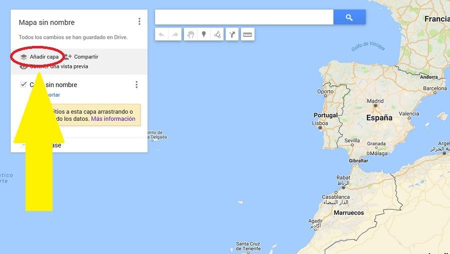 crear capa google maps
