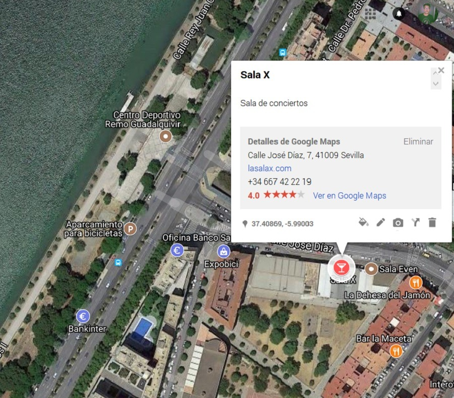 ficha sitios google maps