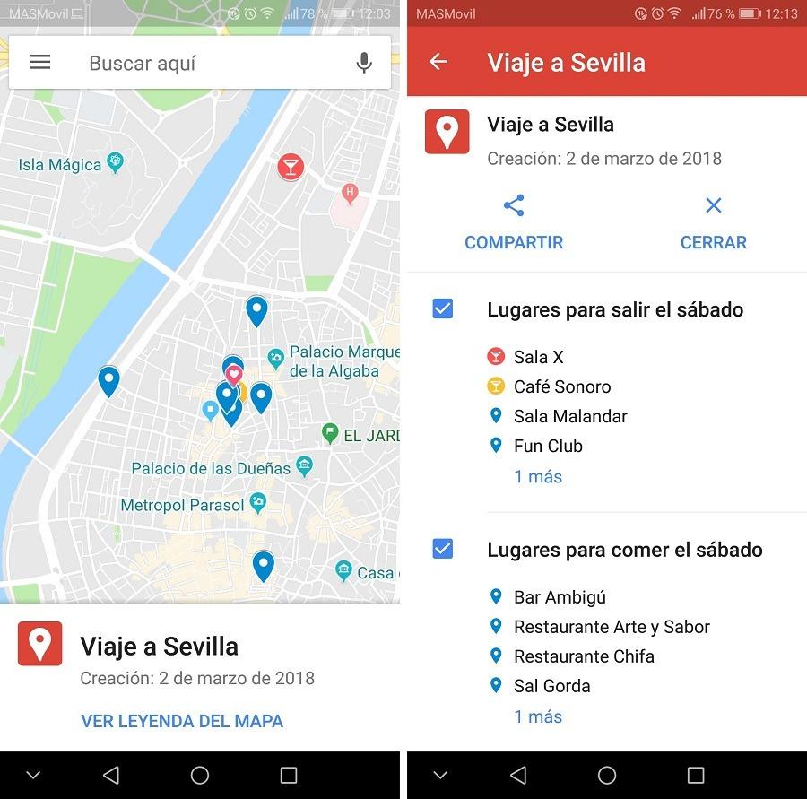 google maps mapas personales