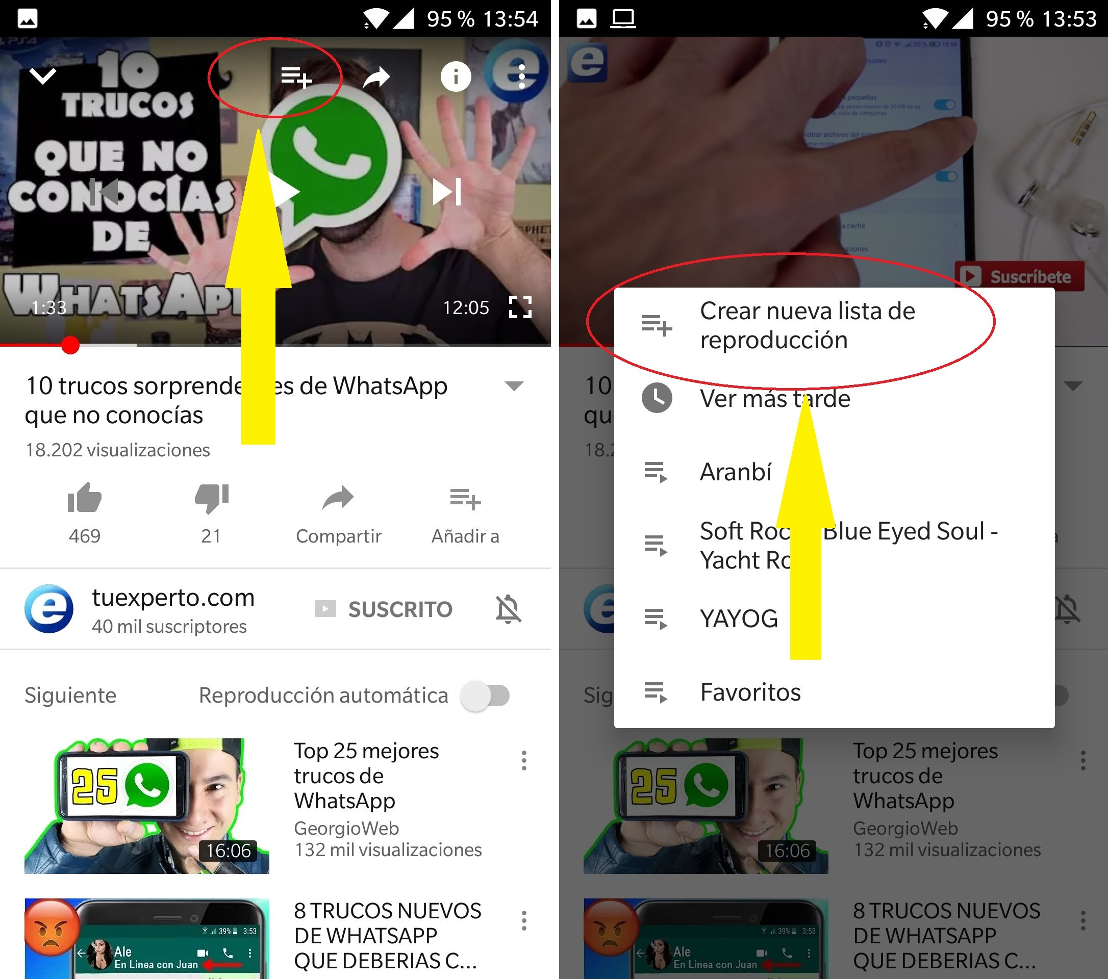 crear lista de reproduccion youtube