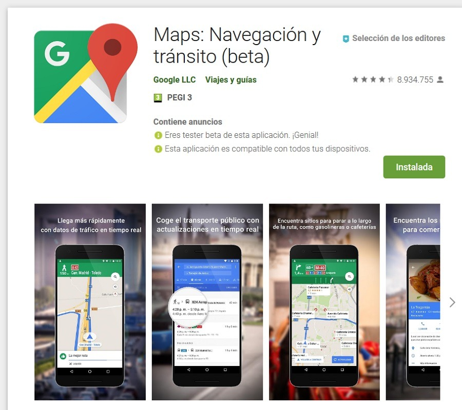 google maps play store