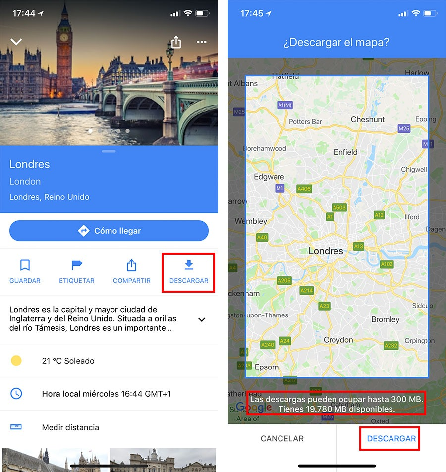 5 trucos sencillos a la hora de usar Google Maps sin conexión 2