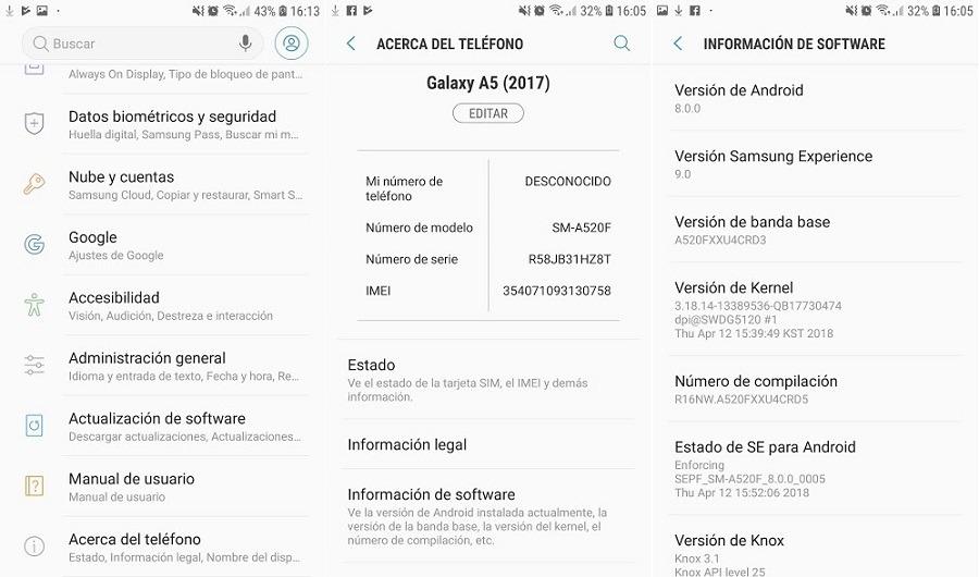 Comprueba si tu móvil tiene la última actualización de Android