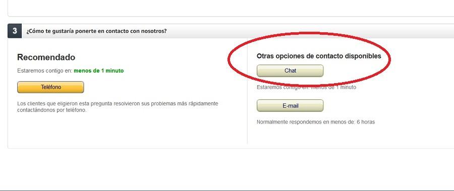 Cómo contactar con Amazon para una devolución o un problema 1