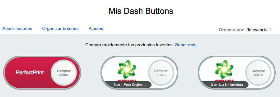cómo crear Virtual Dash Buttons botones creados