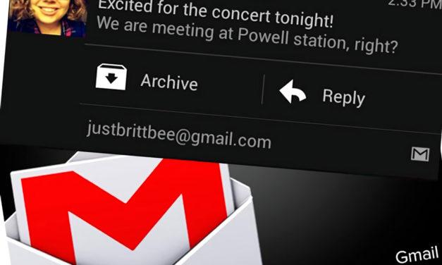 Cómo hacer aparecer la opción Eliminar en las notificaciones de Gmail en tu móvil