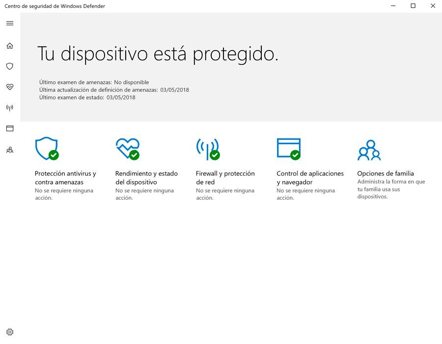 cómo recuperar archivos cuarentena Windows Defender primera pantalla