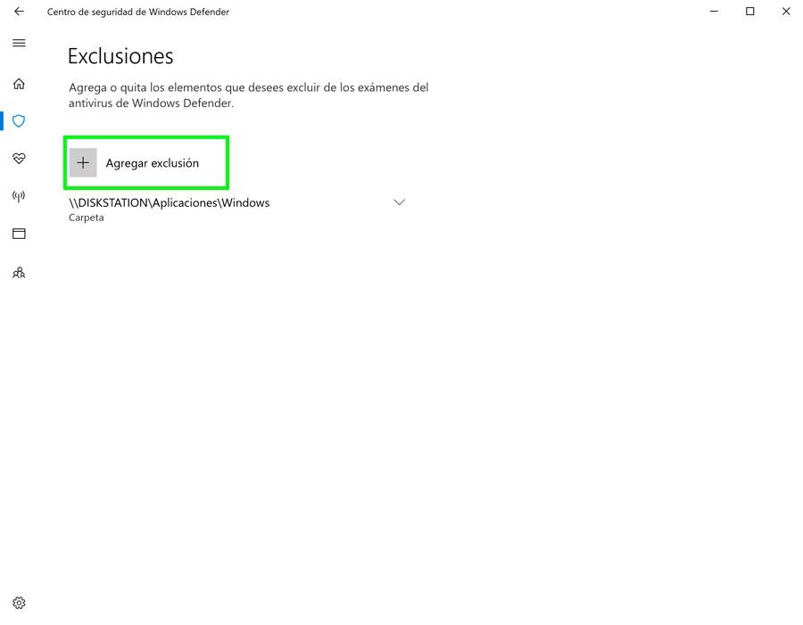 cómo recuperar archivos cuarentena Windows Defender exclusiones incluir