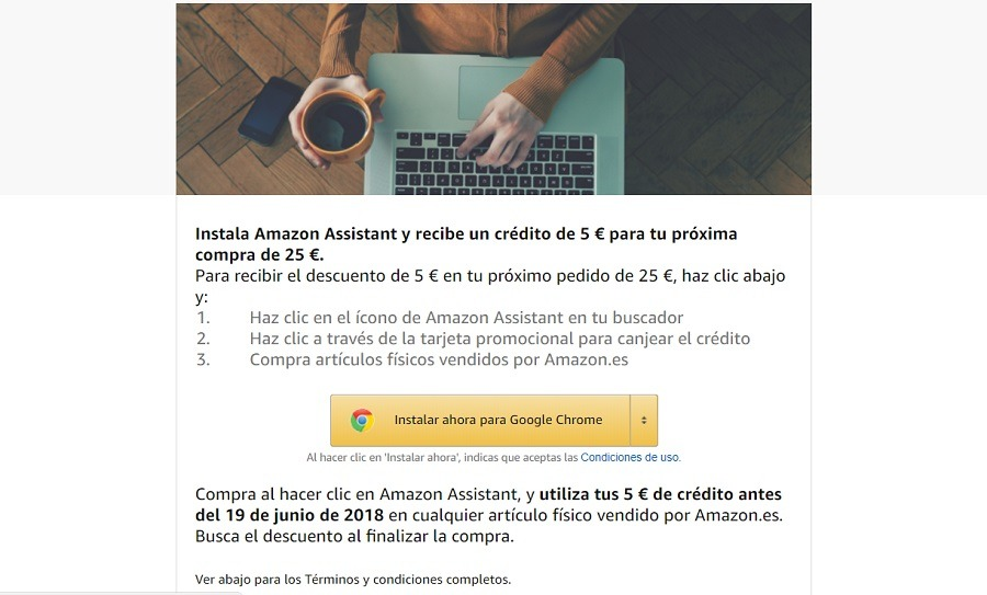 promocion amazon assistant