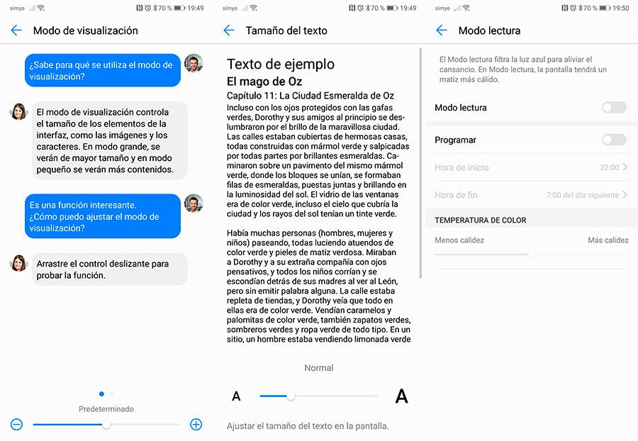 10 trucos para móviles Huawei con interfaz EMUI texto grande