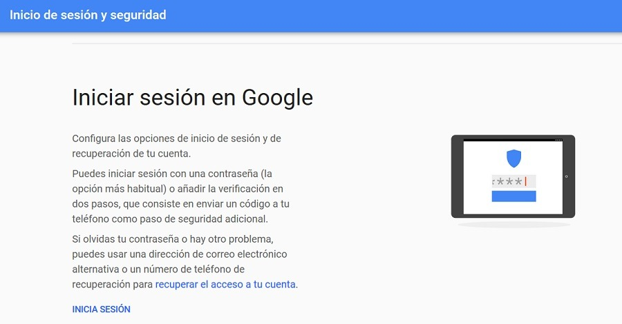contraseña google