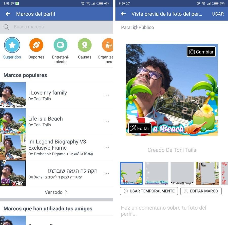 Cómo poner un marco a tu foto de perfil en Facebook