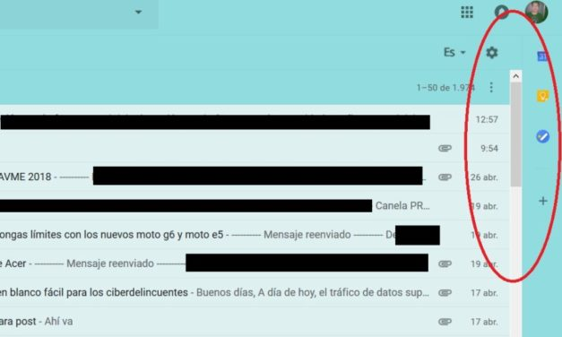 Cómo ocultar la barra lateral del nuevo diseño de Gmail