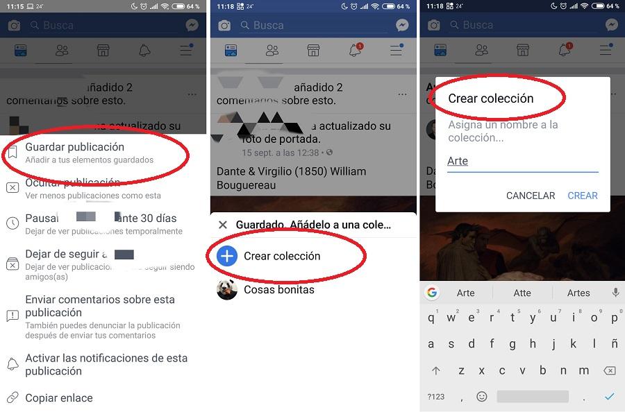 Cómo crear una colección de archivos en Facebook 2