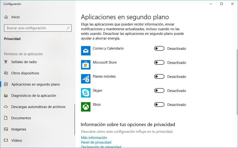 aplicaciones de inicio Windows 10