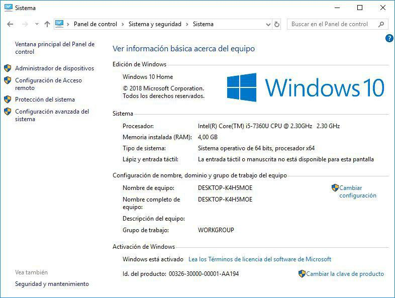 clave de activacion de windows 10