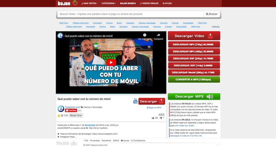 descargar solo audio de youtube gratis sin instalar programas