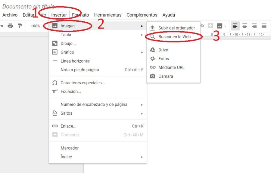 insertar imagenes google drive