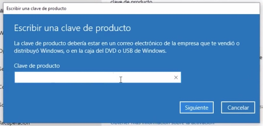 codigo activacion windows 10