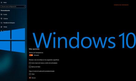 Cómo activar el tema oscuro en Windows 10