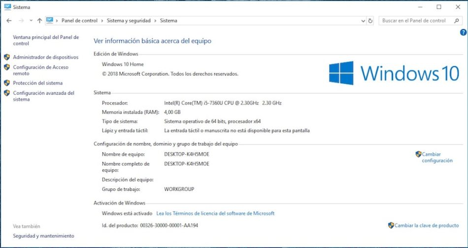 pasar de windows 10 home a pro