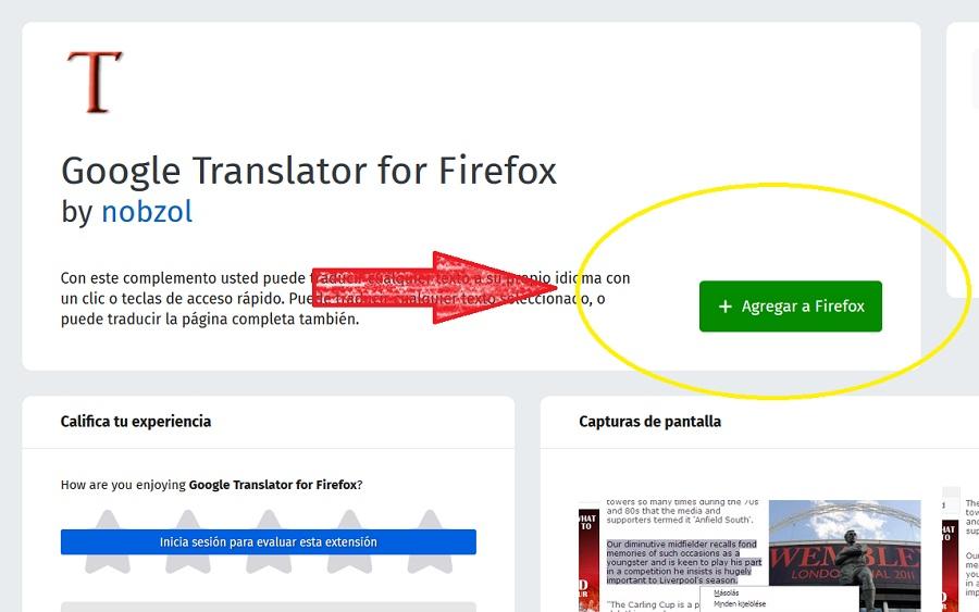 traducir web firefox