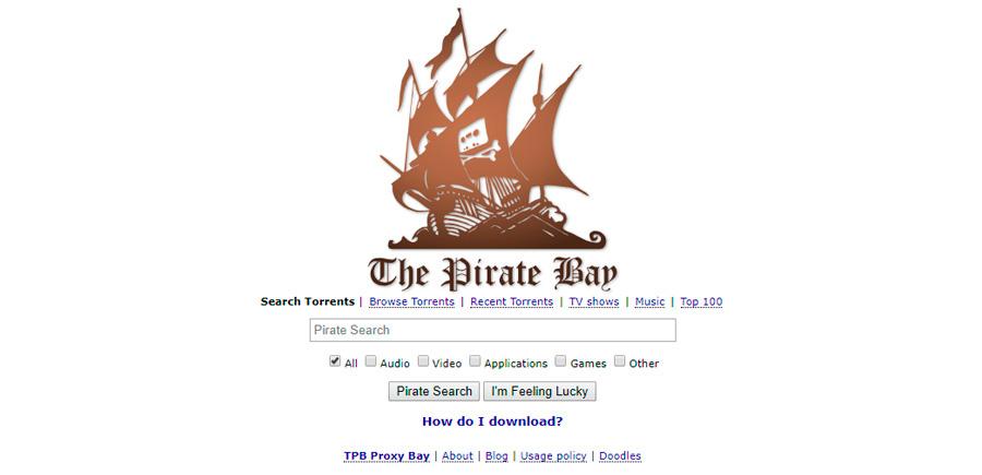 5 páginas torrent funcionales para descargar archivos de todo tipo PirateBay