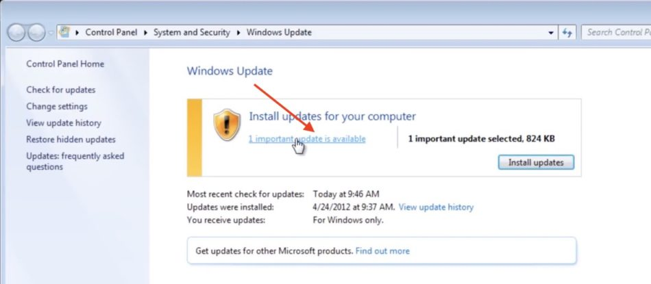 actualizar windows 7 update 2