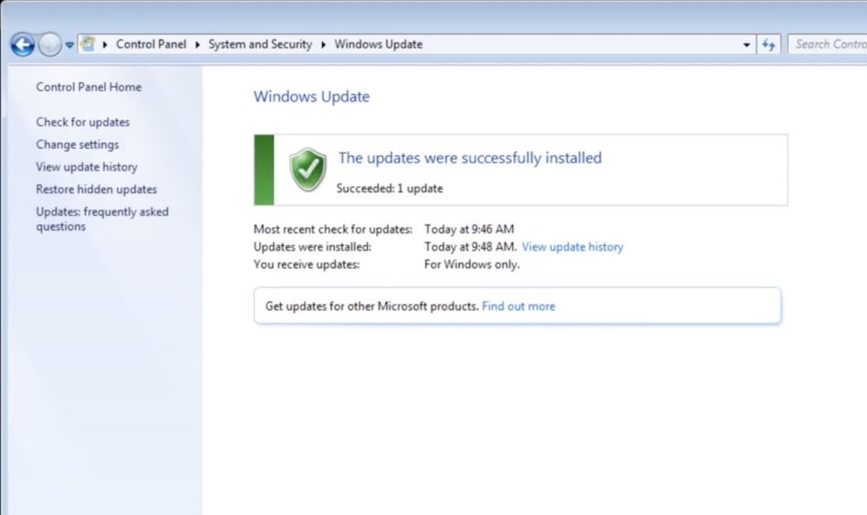 actualizar windows 7 update 4