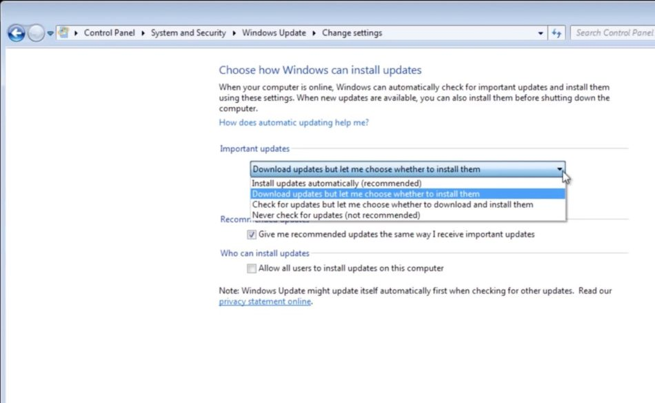 actualizar windows 7 update