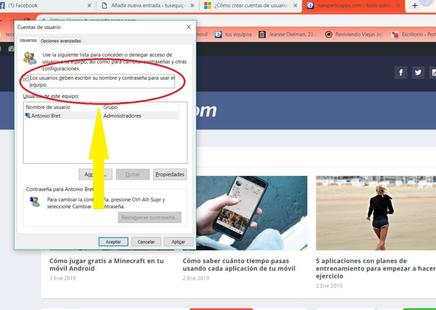 cuenta usuario windows 10