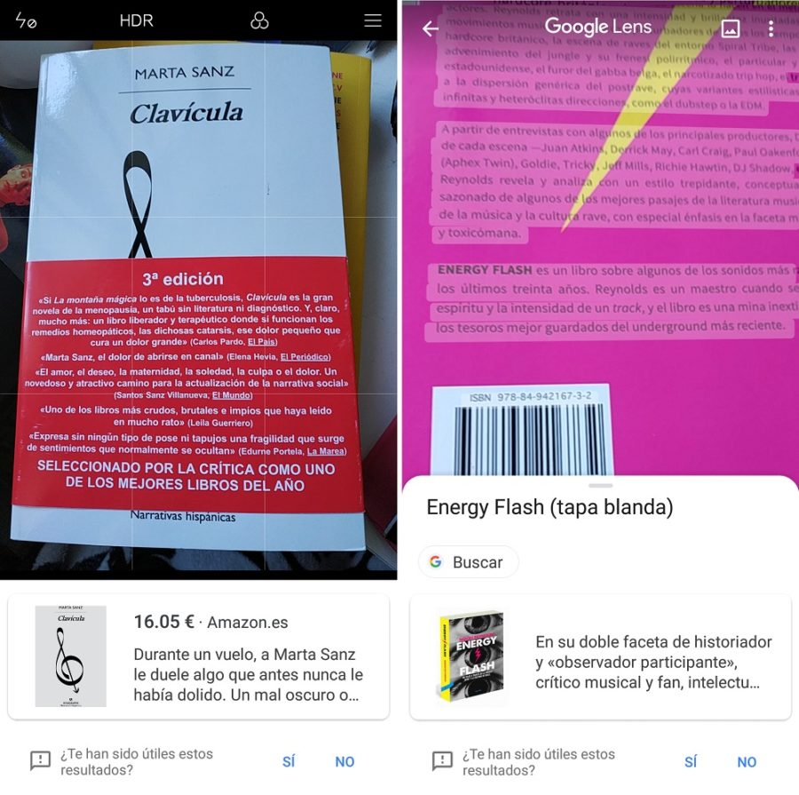 google lens libros