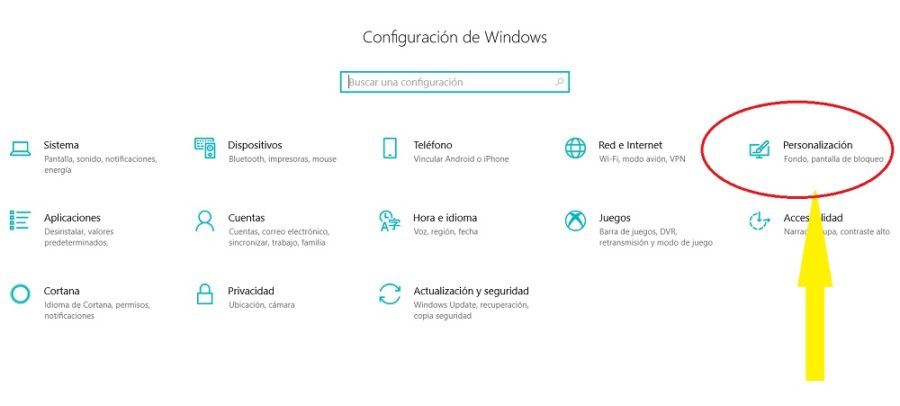 personalizacion windows 10