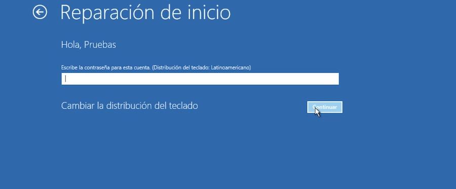 reparar inicio windows 10