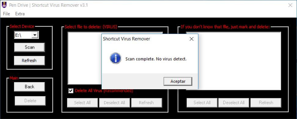 borrar virus acceso directo 24