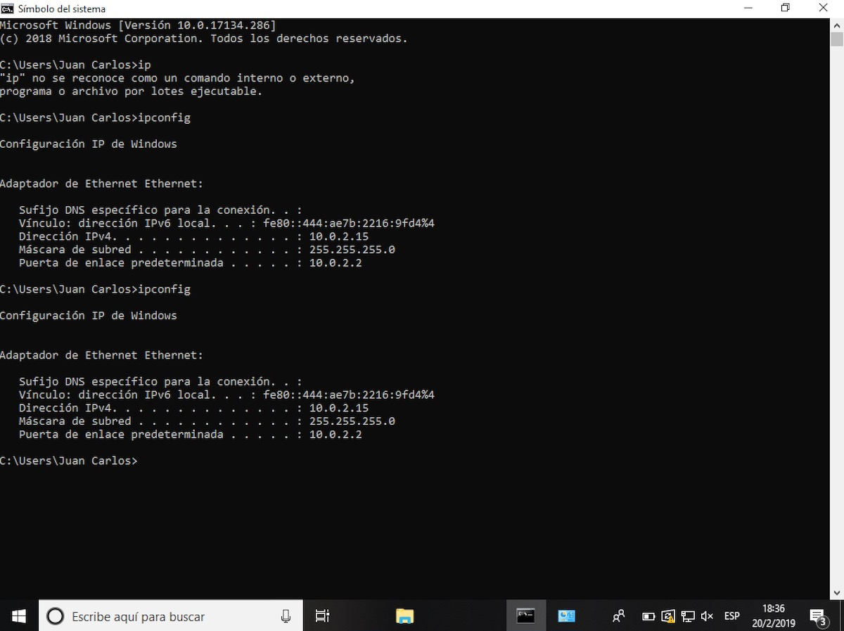 cambiar ip en windows 10 sin programas