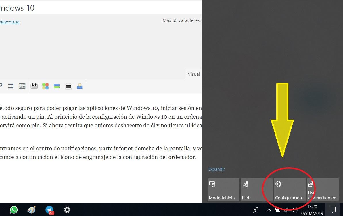 Cómo deshabilitar el pin de inicio de Windows 10 1